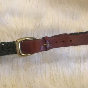 Brighton Accessories - Brighton woven green and leather belt 😍